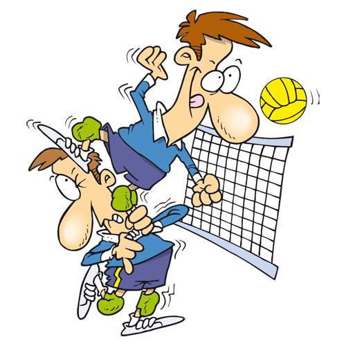 Открытка о волейболе, днем